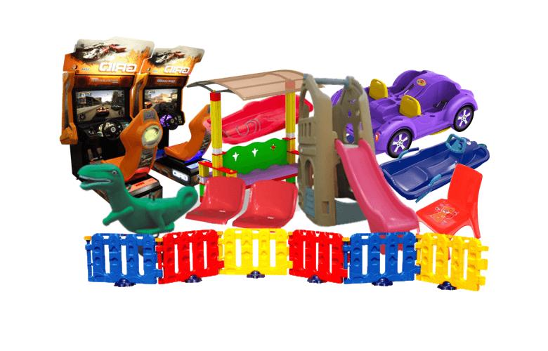 элементы детских площадок и аттракционов из пластика