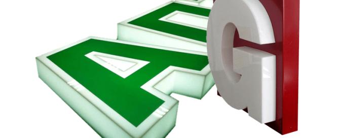 объемные буквы из пластика